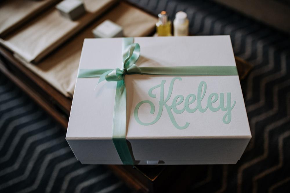 Bride Bridal Gift Box Personalised Manchester Wedding Kazooieloki Photography