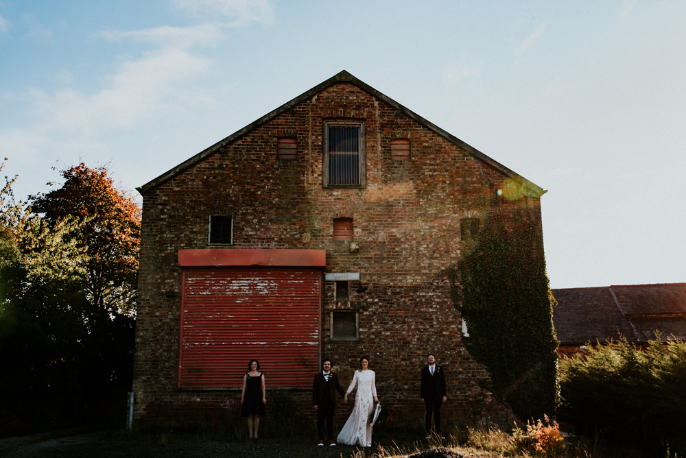 north yorkshire pub wedding cool & non-traditional boho
