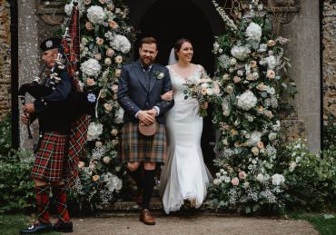 Oxnead Hall Wedding Luis Holden Photography Church Flowers Arch Entrance Door Installation Backdrop Greenery Foliage Wild Natural