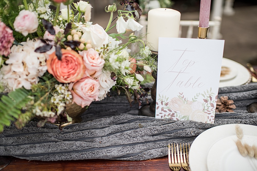 Table Number Name Sign Peach Gold Wedding Ideas Jane Beadnell Photography