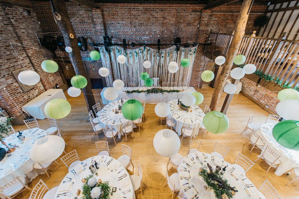 Green Paper Lanterns Quirky Rustic Charm Wedding Justin Bailey Photography