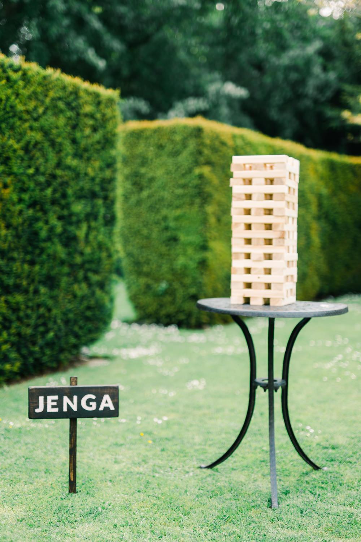 Jenga Garden Games Saltmarshe Hall Wedding Jessica Davies Photography