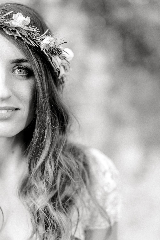Bride Bridal Make Up Hair Flower Crown Saltmarshe Hall Wedding Jessica Davies Photography