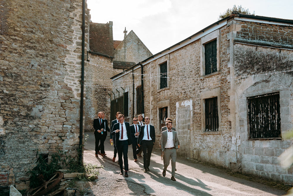 Groom Groomsmen Suits Silk Mill Wedding Andrew Brannan Photography