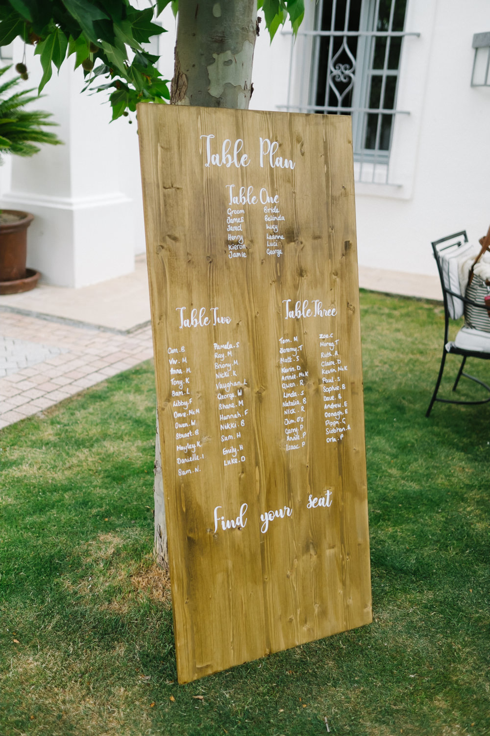 Seating Plan Table Chart Wooden Calligraphy Spain Destination Wedding Jesus Caballero Photography