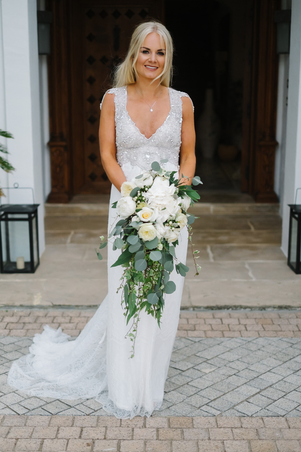 Bride Bridal Dress Gown Anna Campbell Embellished Spain Destination Wedding Jesus Caballero Photography