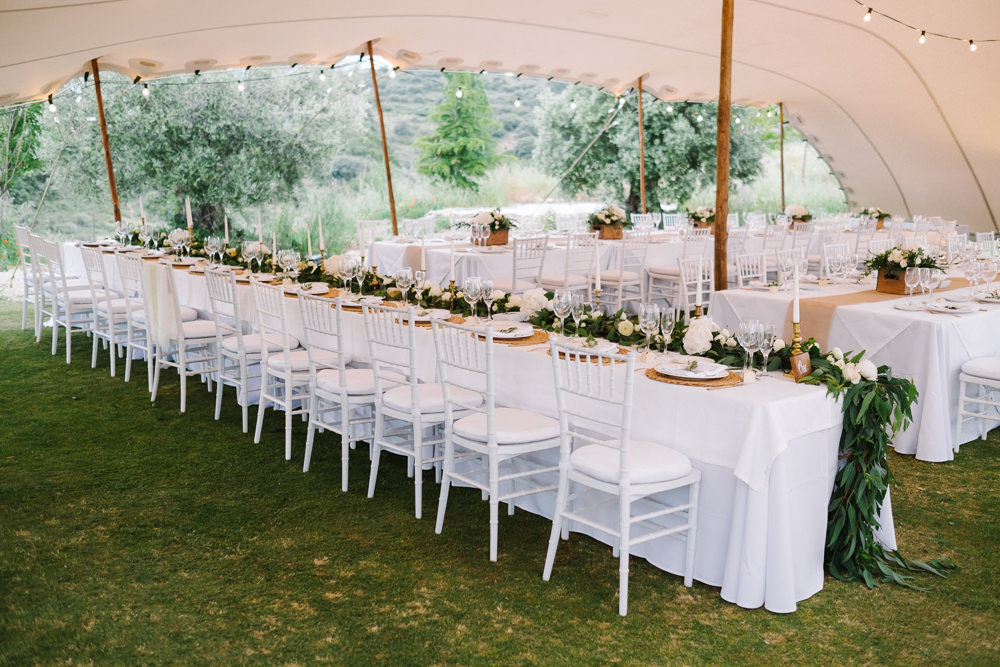 Stretch Tent Marquee Decor Long Tables Letter Lights Festoon Lights Lighting Spain Destination Wedding Jesus Caballero Photography