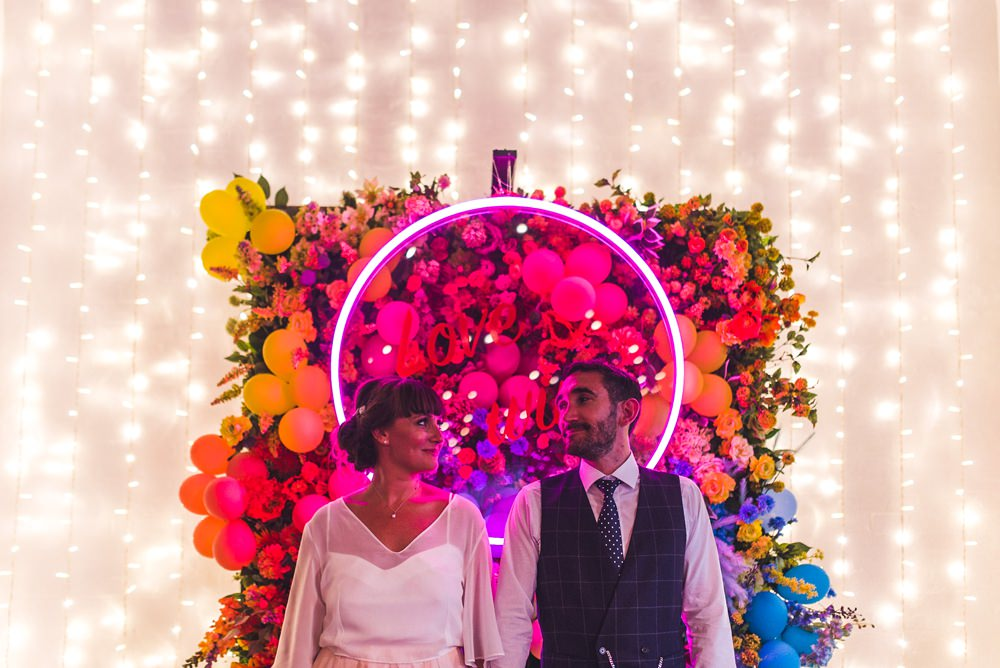 All The Colours of the Rainbow for an Eclectic & Alternative Warehouse Wedding