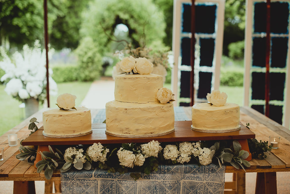Cake Table Buttercream Wooden Stand Floral Weekend Long Wedding Georgia Rachael Photography