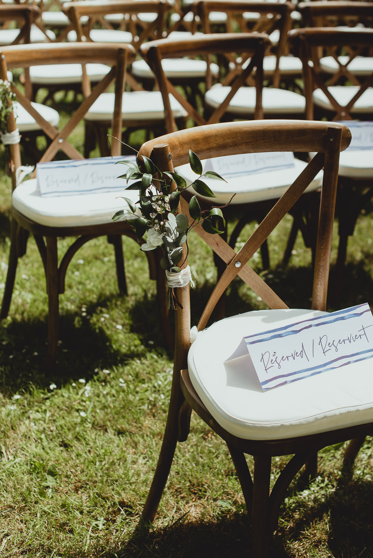 Cross Back Chair Eucalyptus Pew End Weekend Long Wedding Georgia Rachael Photography
