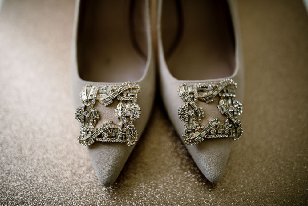 Bride Bridal Shoes Heels Wharfedale Grange Wedding Hayley Baxter Photography