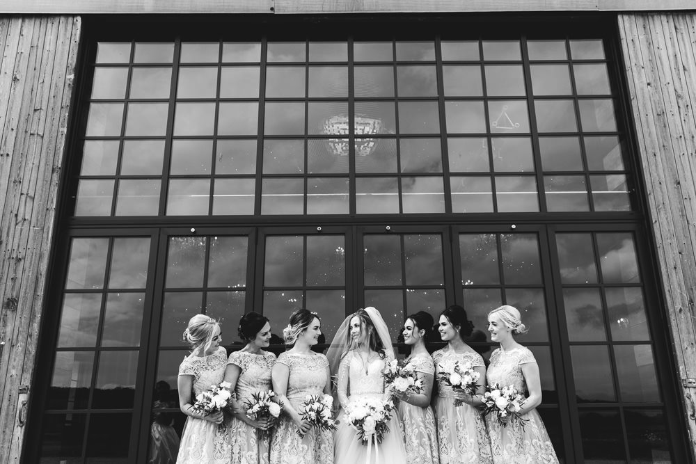 Bridesmaids Bridesmaid Dress Dresses Lace Wharfedale Grange Wedding Hayley Baxter Photography