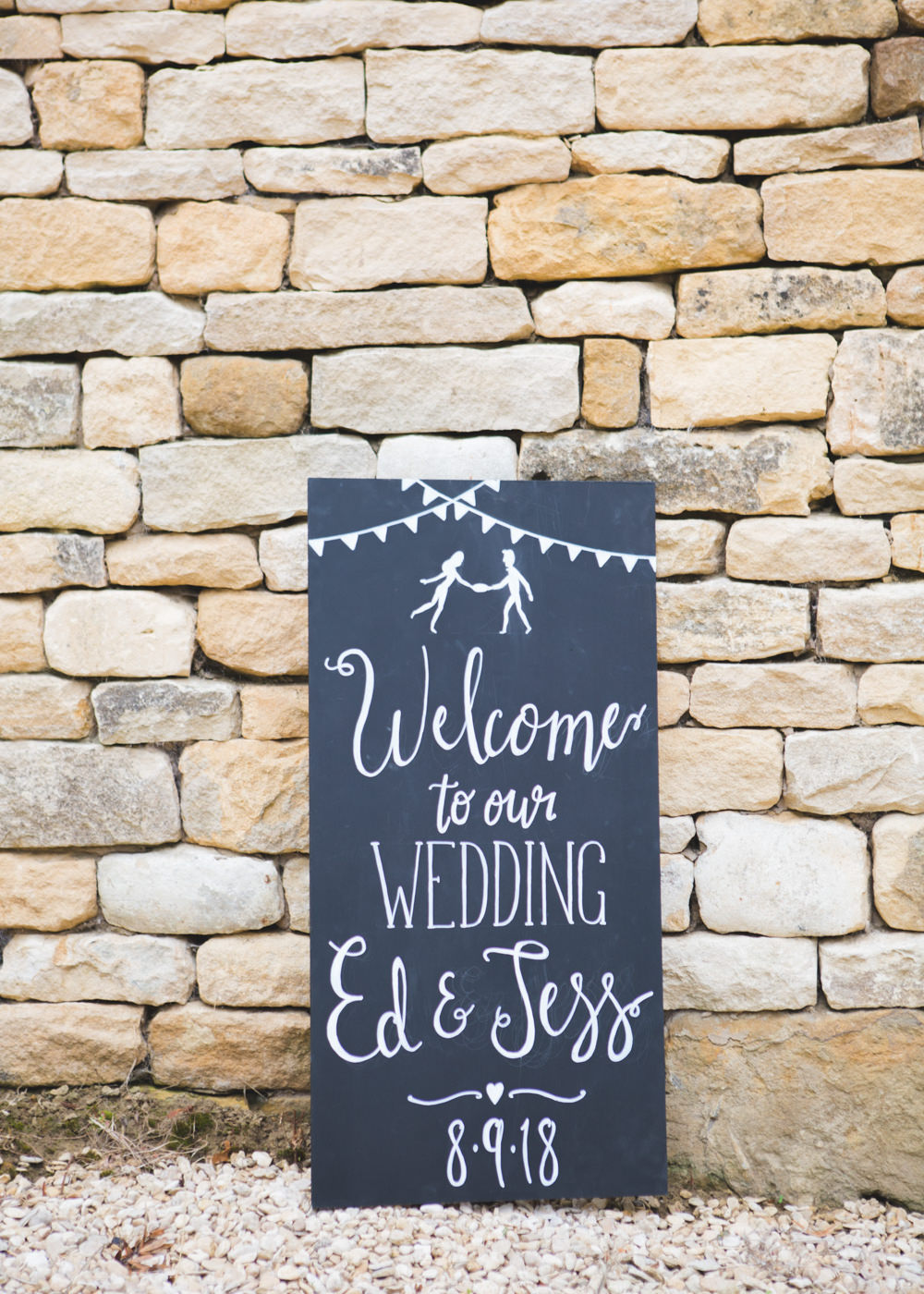 Black Board Chalk Sign Signage Signs Welcome Airbnb Wedding Pickavance Weddings