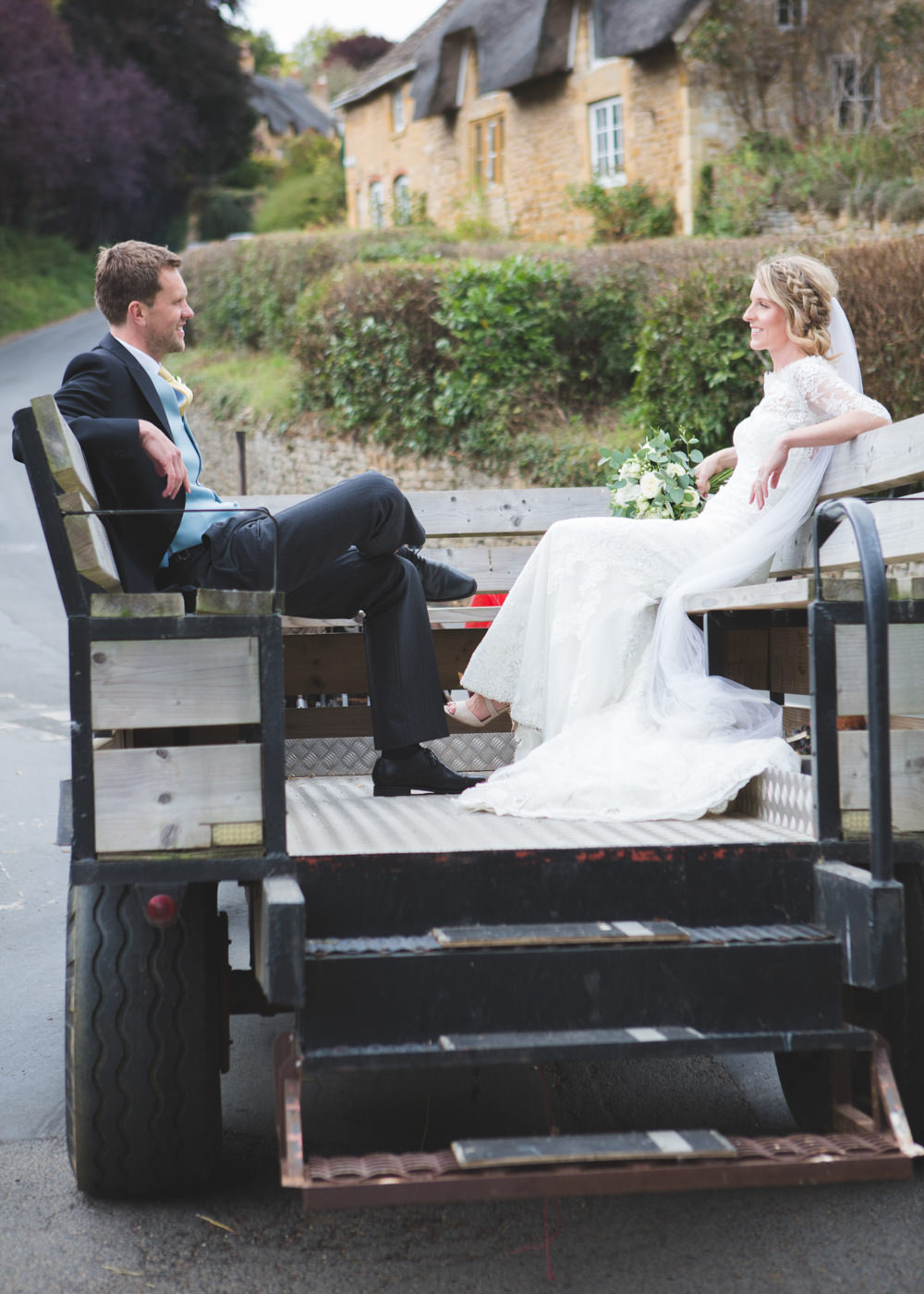 Tractor Trailer Transport Airbnb Wedding Pickavance Weddings