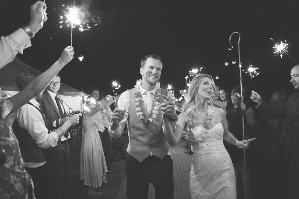 Sparkler Exit Send Off Airbnb Wedding Pickavance Weddings