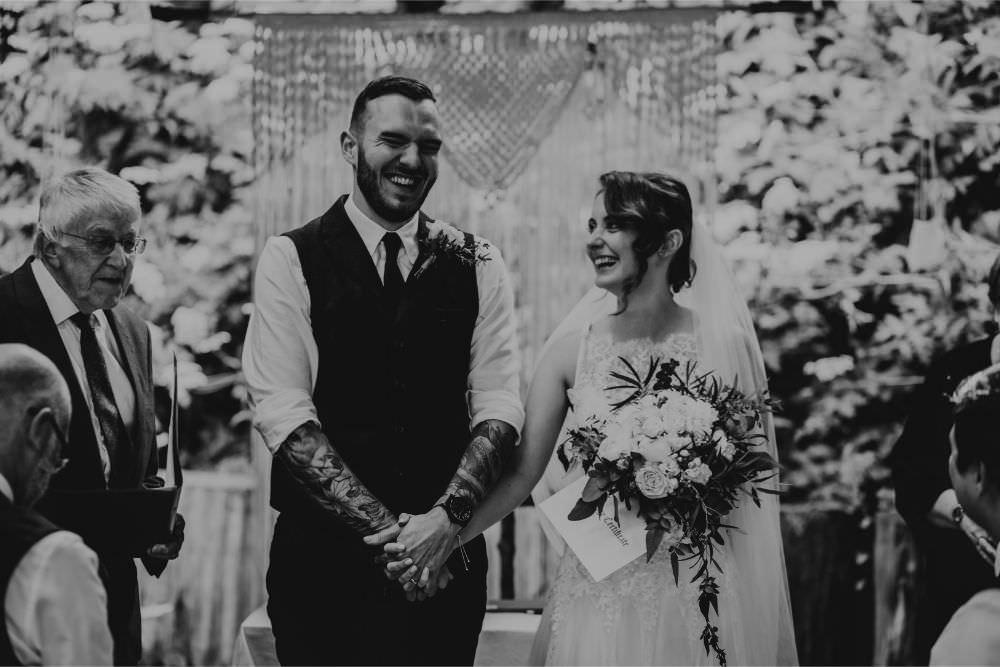 Macrame Backdrop Hanging Decor Ceremony Arnos Vale Wedding Chloe Mary Photography