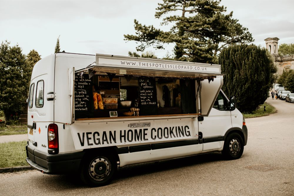 Vegan Food Van Truck Arnos Vale Wedding Chloe Mary Photography