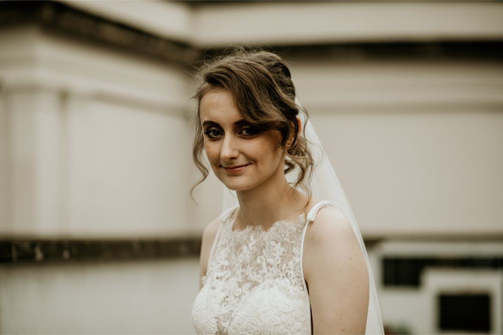 Bride Bridal Make Up Hair Style Up Do Arnos Vale Wedding Chloe Mary Photography
