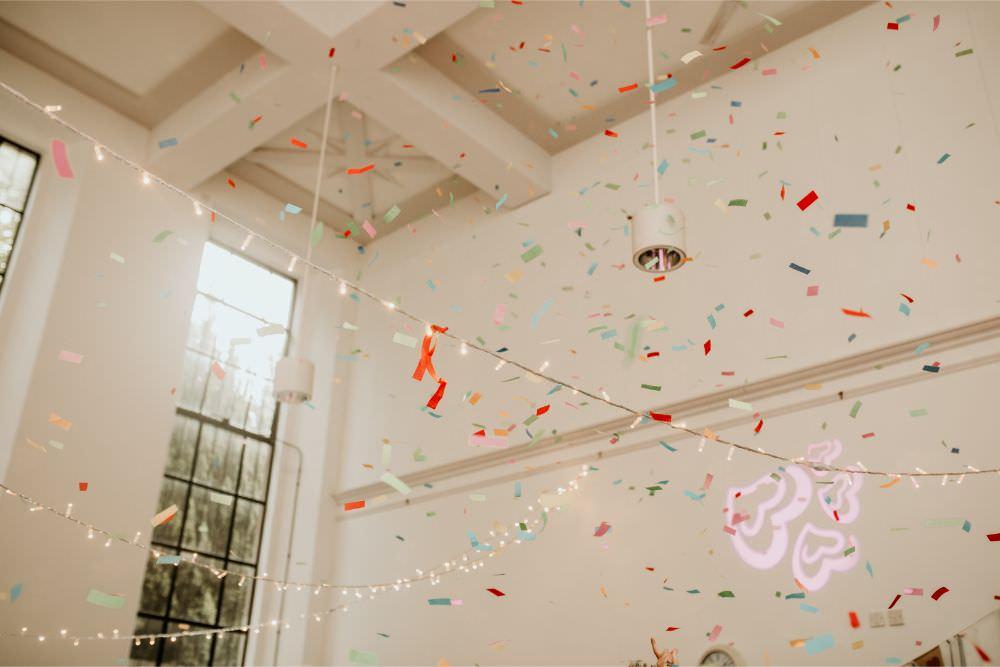 Confetti Cannon Dancefloor Arnos Vale Wedding Chloe Mary Photography