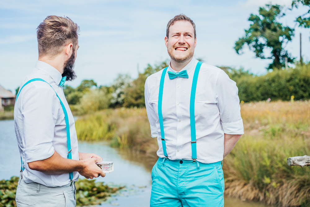 Groom Bow Tie Braces Trousers Mint Green Big Top Wedding Anna Pumer Photography