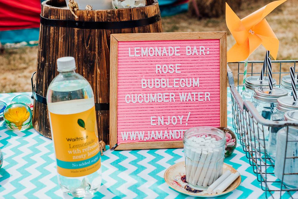Lemonade Bar Drinks Stand Big Top Wedding Anna Pumer Photography