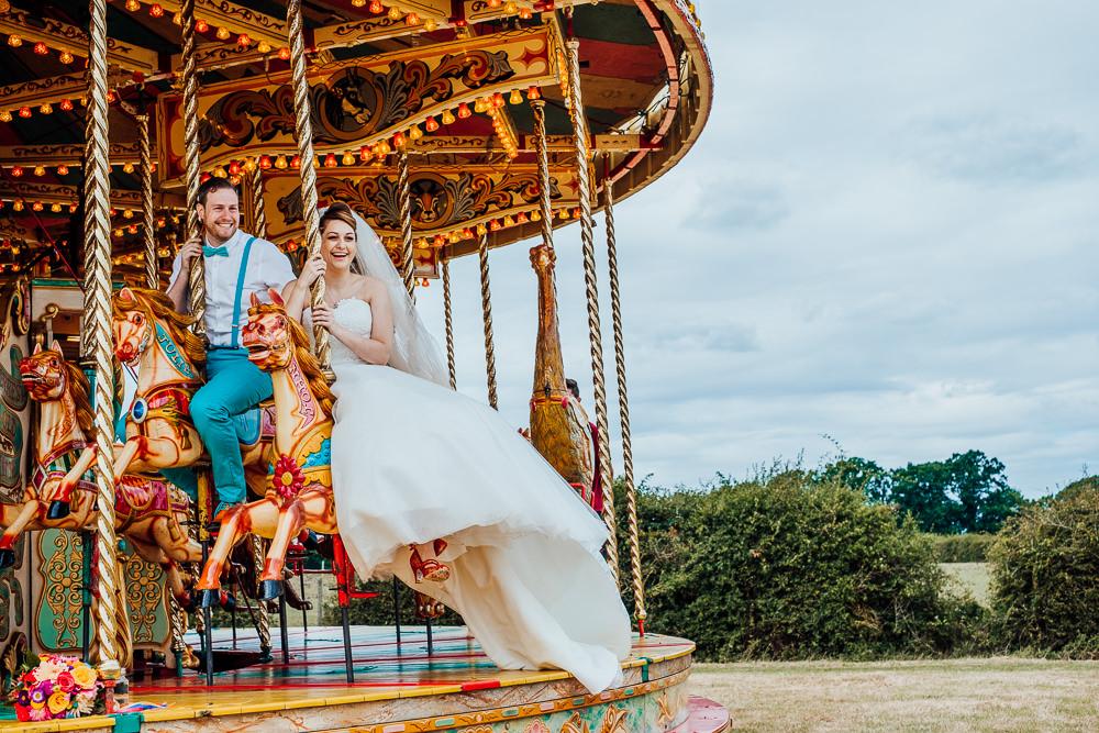 Funfair Carousel Fairground Ride Big Top Wedding Anna Pumer Photography