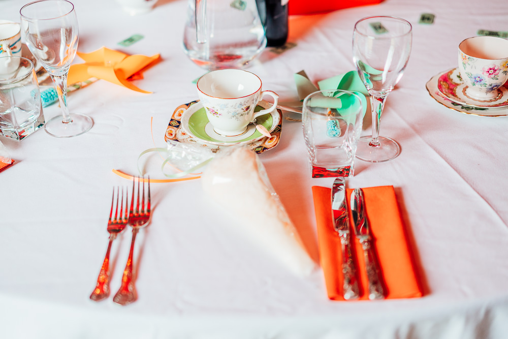 Place Setting Decor Candyfloss Favours Big Top Wedding Anna Pumer Photography