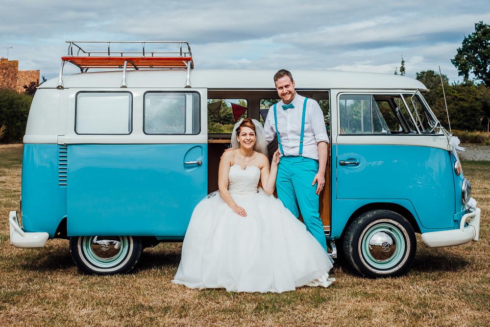 VW Campervan Transport Big Top Wedding Anna Pumer Photography