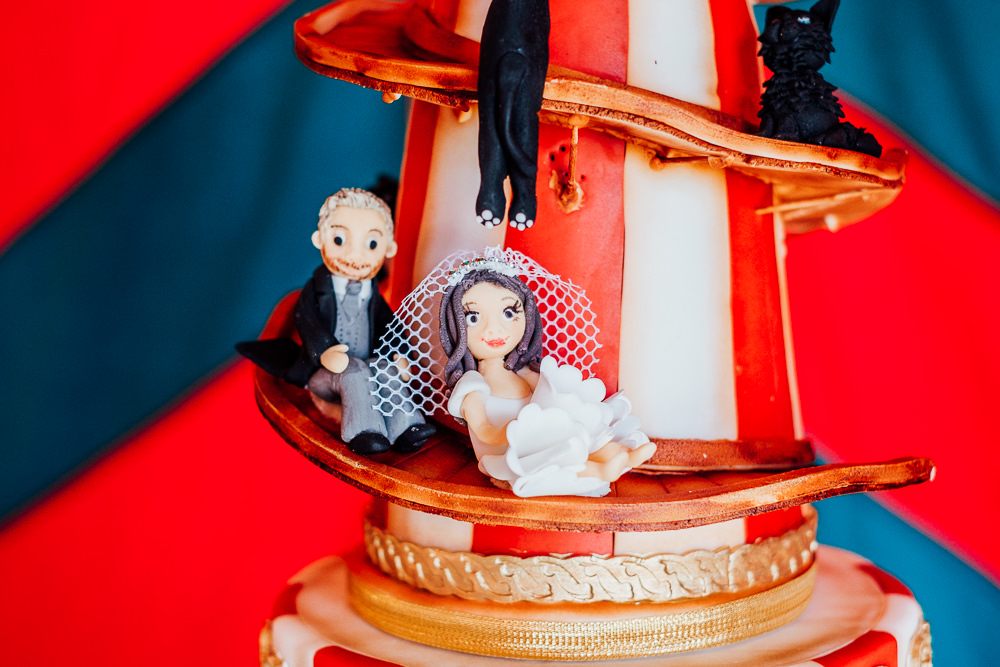 Helter Skelter Cake Cats Circus Greatest Showman Fair Fairground Big Top Wedding Anna Pumer Photography