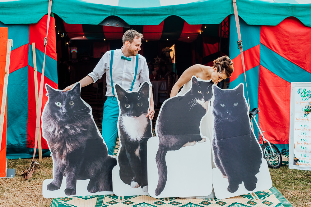 Cut Out Cats Boards Big Top Wedding Anna Pumer Photography