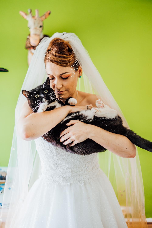 Bride Bridal Cat Pet Big Top Wedding Anna Pumer Photography