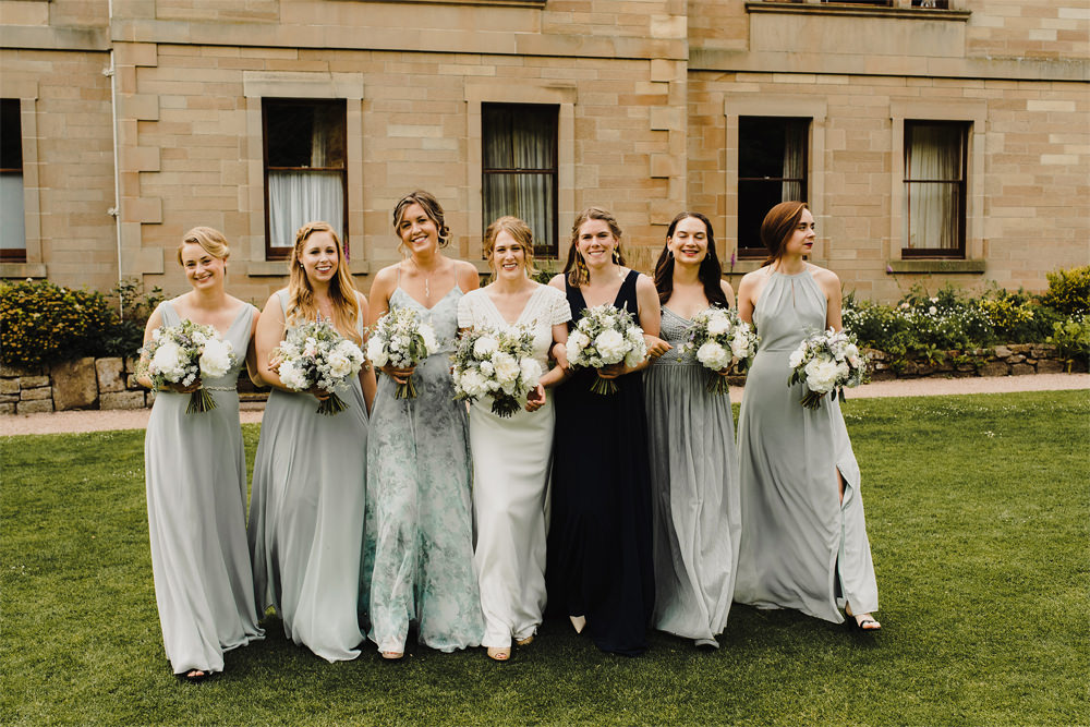 Bridesmaids Bridesmaid Dress Dresses Grey Cambo Estate Wedding Anna Urban Wedding Photography