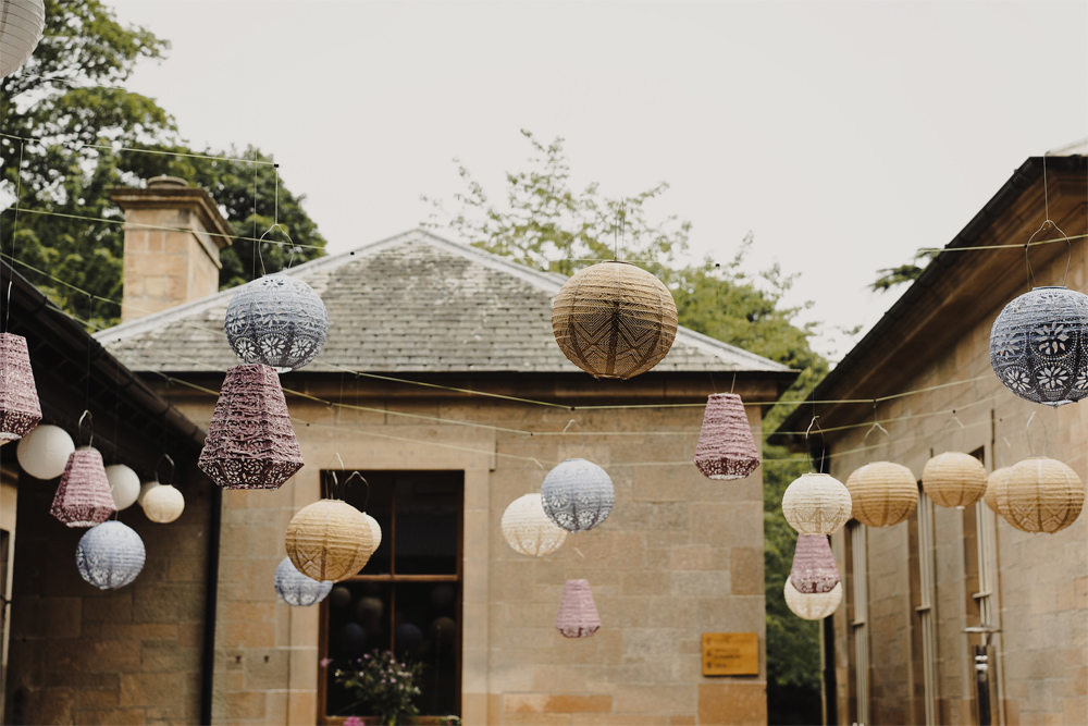 Hanging Lanterns Decor Decoration Lampshades Cambo Estate Wedding Anna Urban Wedding Photography