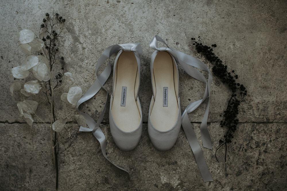 Ballet Pumps Shoes Bride Bridal Cave Wedding Ideas Vanessa Illi Photographer