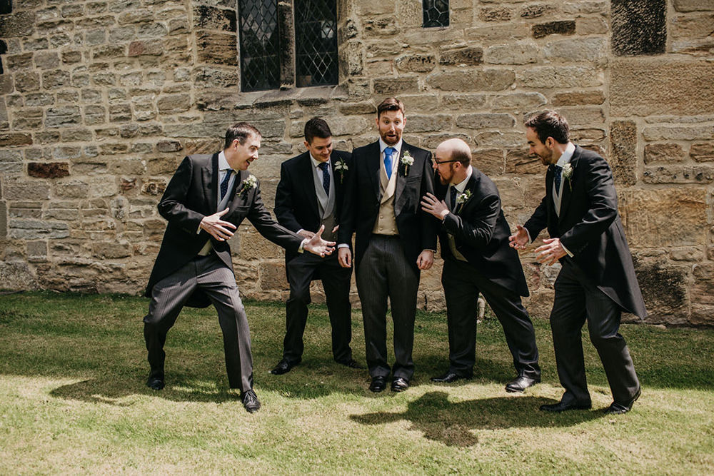 Groom Suit Traditional Tails Groomsmen Celeste Marquee Wedding Sarah Longworth Photography