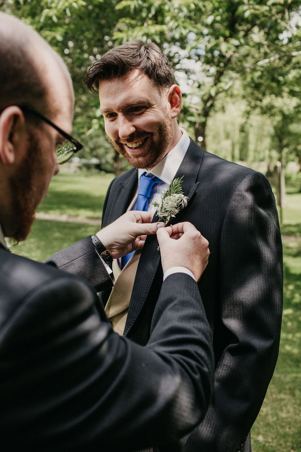 Groom Suit Traditional Tails Buttonhole Celeste Marquee Wedding Sarah Longworth Photography