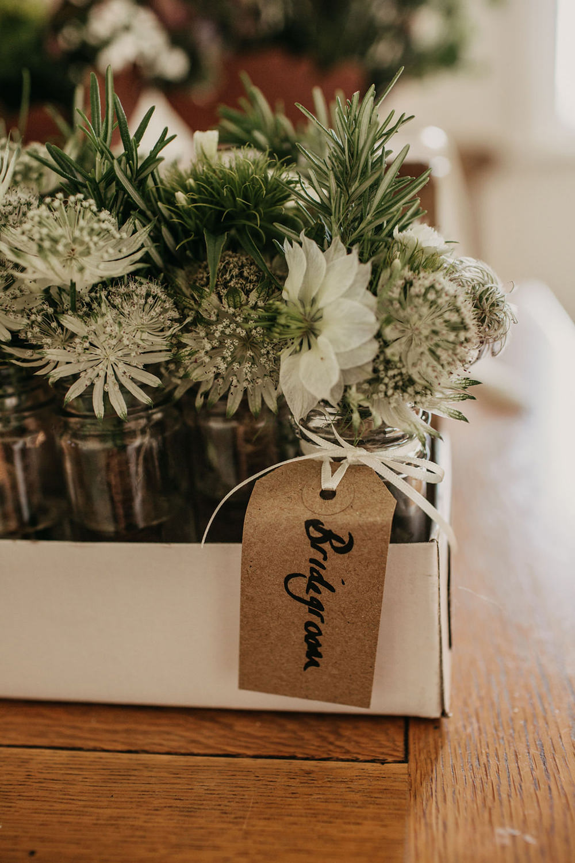 Buttonhole Flowers Celeste Marquee Wedding Sarah Longworth Photography
