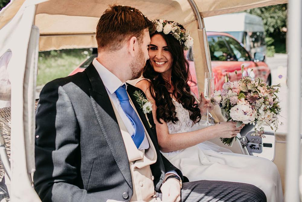 Tuk Tuk Transport Car Celeste Marquee Wedding Sarah Longworth Photography