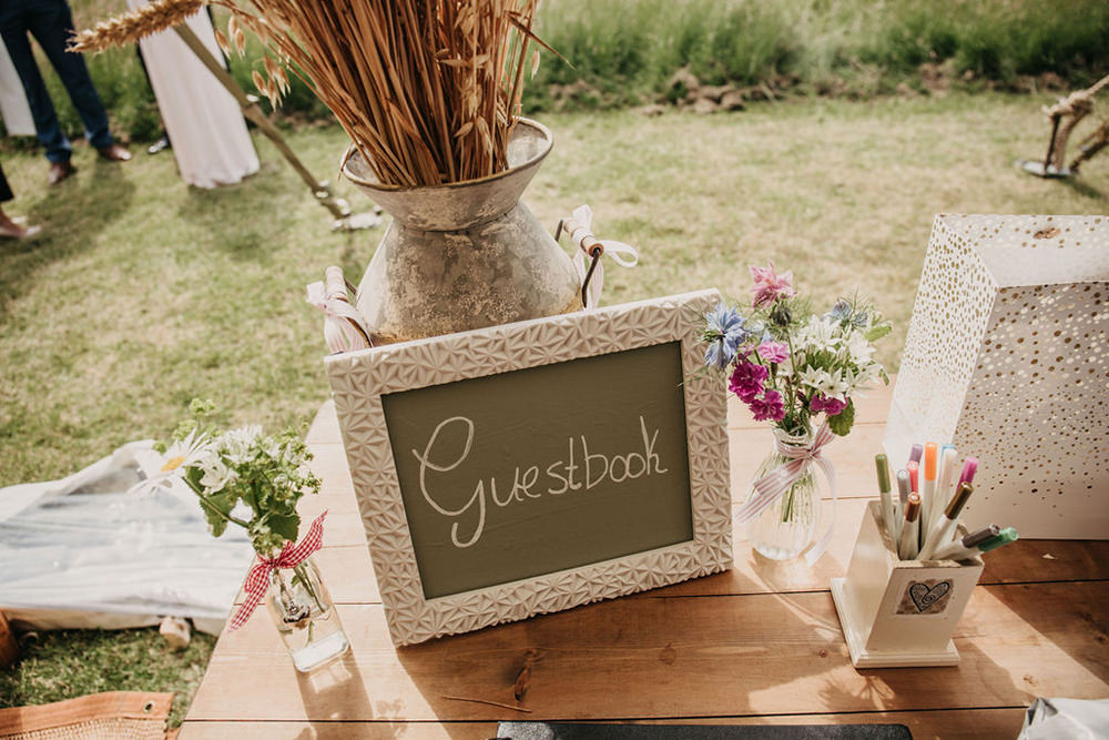 Guest Book Celeste Marquee Wedding Sarah Longworth Photography