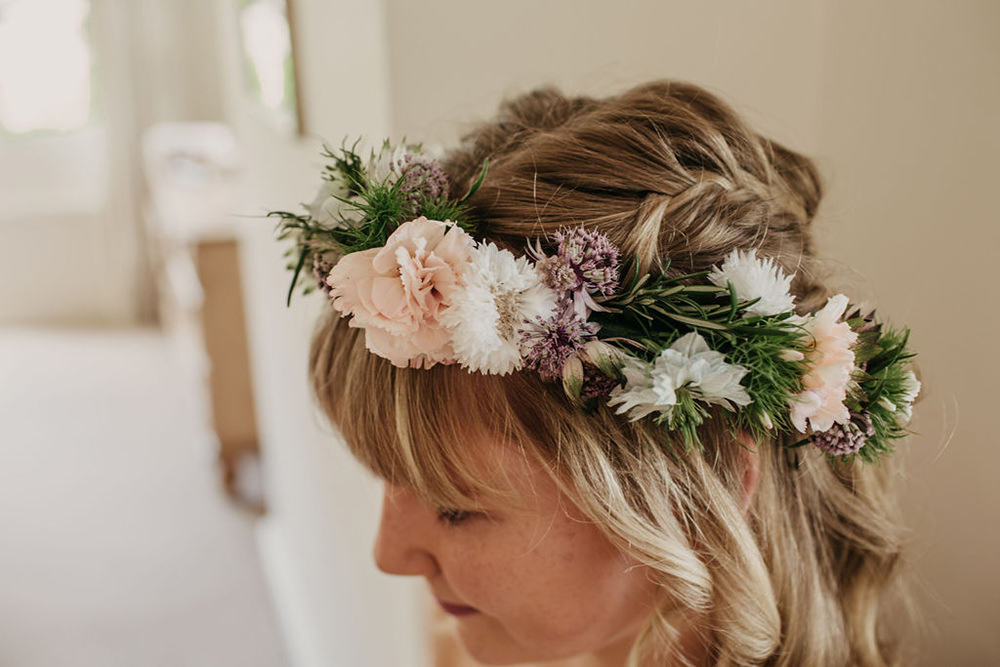 Flower Crown Bridesmaid Celeste Marquee Wedding Sarah Longworth Photography
