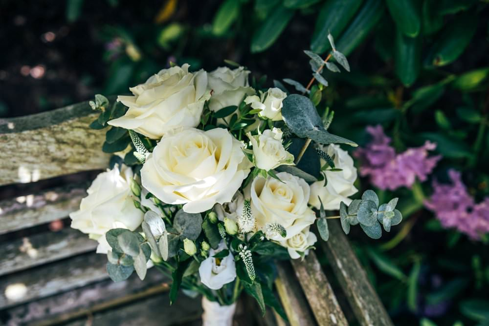 Rose Bouquet Flowers Bride Bridal Chichester Hall Wedding Three Flowers Photography