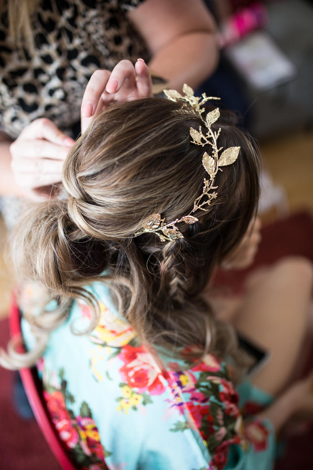 Gold Hair Vine Crown East Quay Wedding Florence Berry Photography