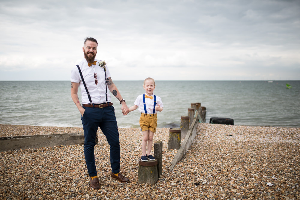 Bow Tie Braces Groom Shorts Page Boy Short Sleeve Shirt East Quay Wedding Florence Berry Photography