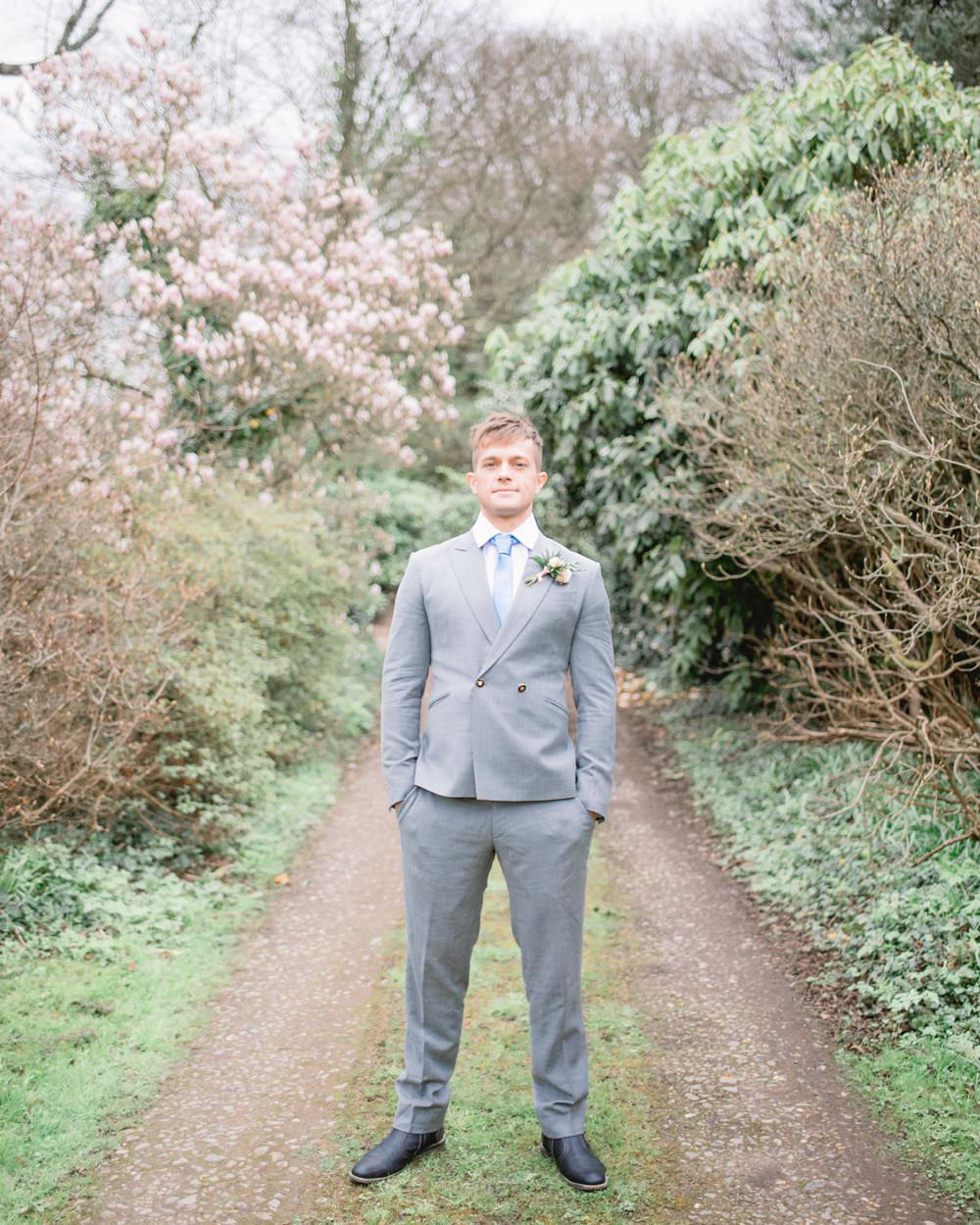 Groom Suit Grey Double Breasted Blue Tie Elegant Wedding Ideas Yll Weddings
