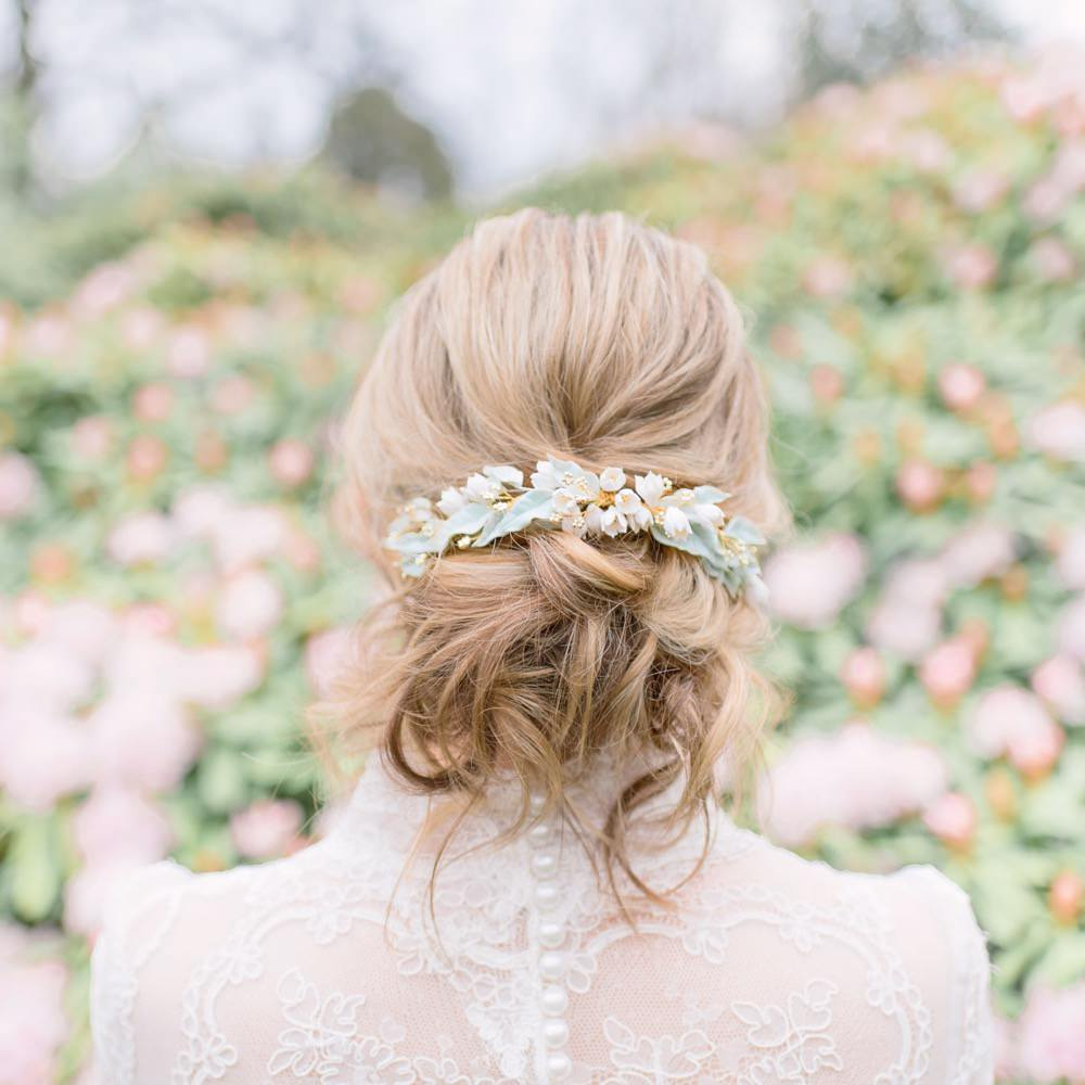 Bride Bridal Hair Style Up Do Rustic Bun Accessory Elegant Wedding Ideas Yll Weddings