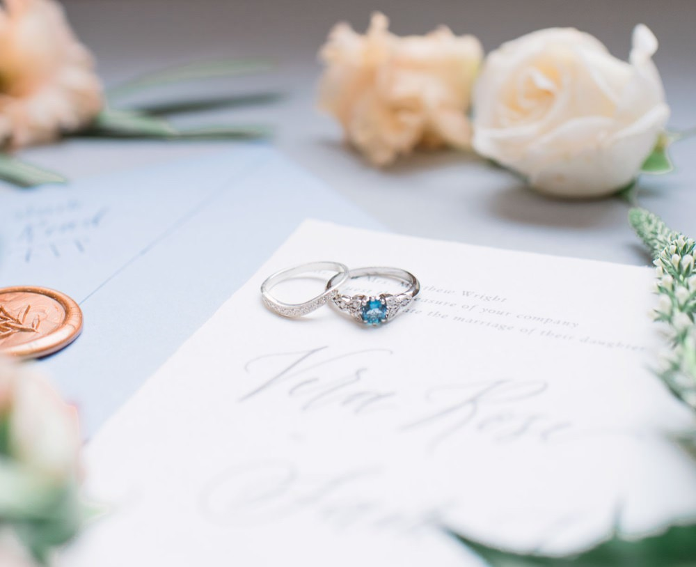 Engagement Ring Band Blue Stone Elegant Wedding Ideas Yll Weddings