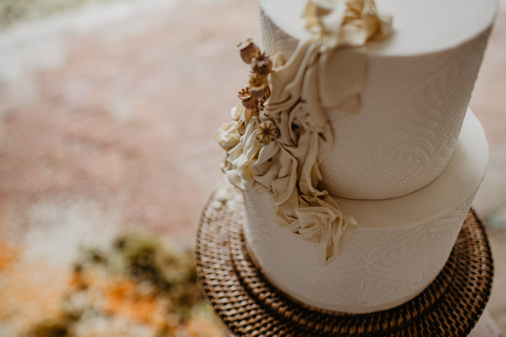 Cake Cakes Pottery Fabric Earthy Natural Elopement Wedding Ideas Oilvejoy Photography