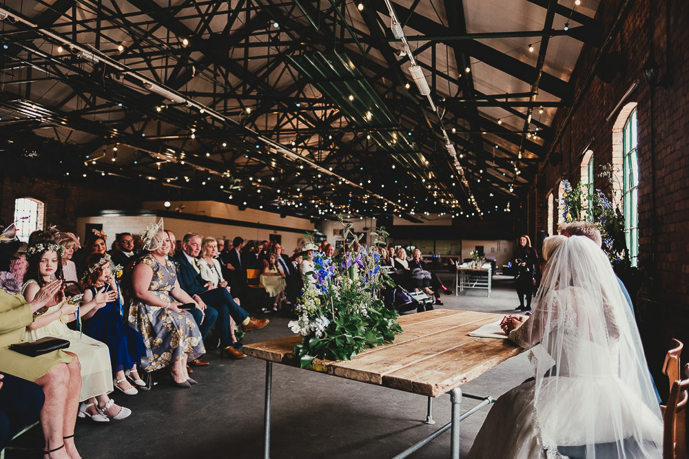Warehouse Venue Ceremony Elsecar Heritage Centre Wedding Ayesha Photography