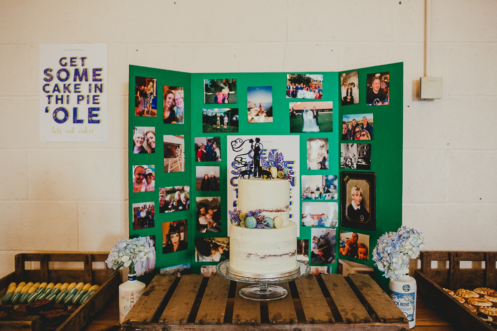 Cake Table Photo Wall Backdrop Elsecar Heritage Centre Wedding Ayesha Photography