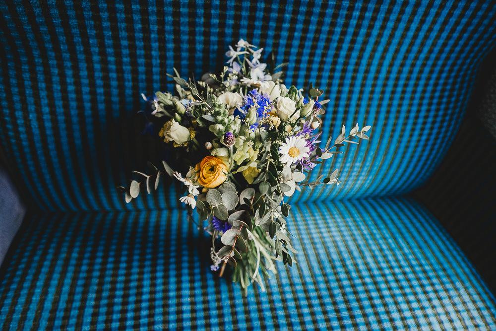 Bouquet Flowers Bride Bridal Daisy Rose Yellow Elsecar Heritage Centre Wedding Ayesha Photography